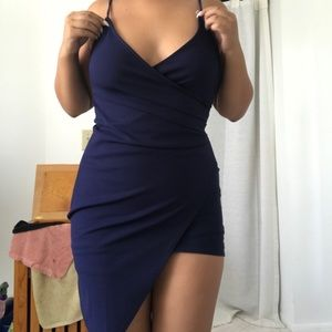 Simple Blue Cocktail/Homecoming Dress